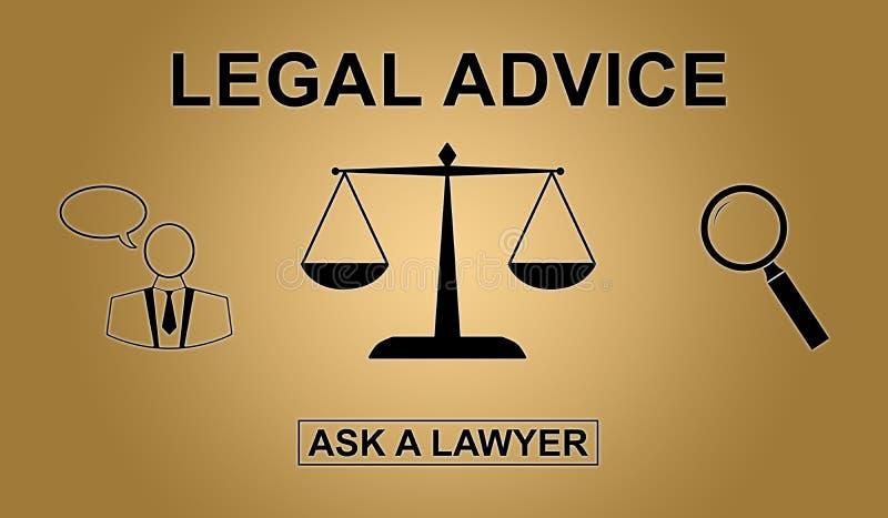 Begrepp av laglig rådgivning stock illustrationer