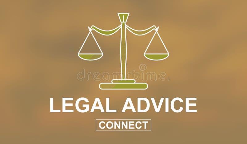 Begrepp av laglig r?dgivning stock illustrationer