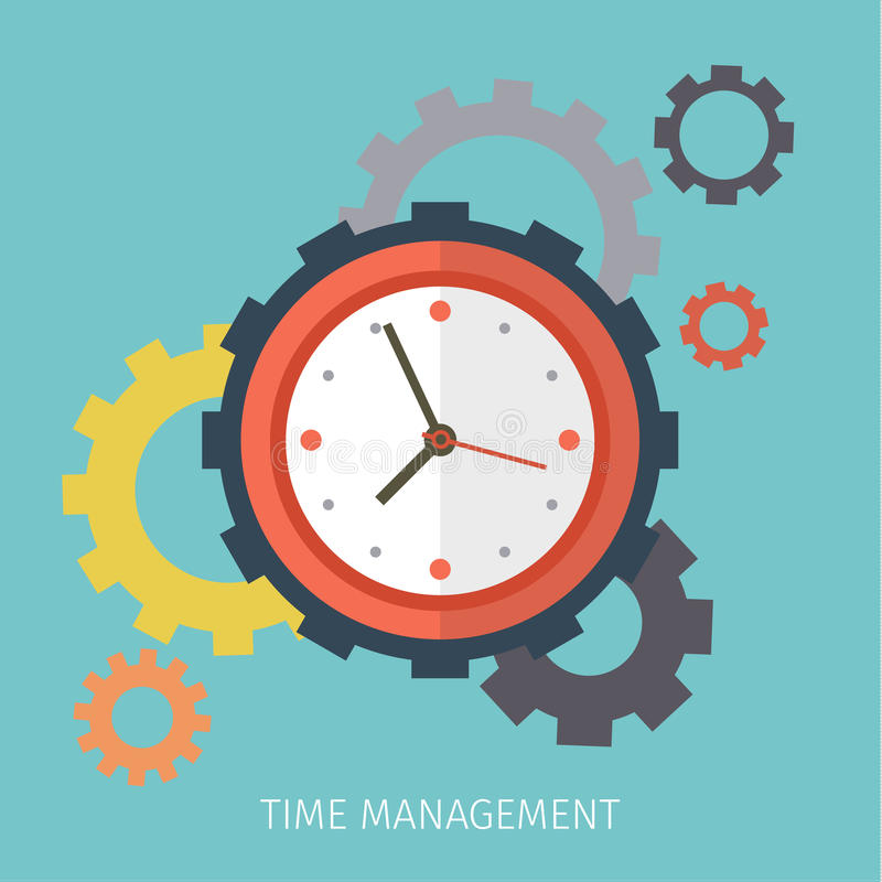 Begrepp av ledning för effektiv tid vektor illustrationer