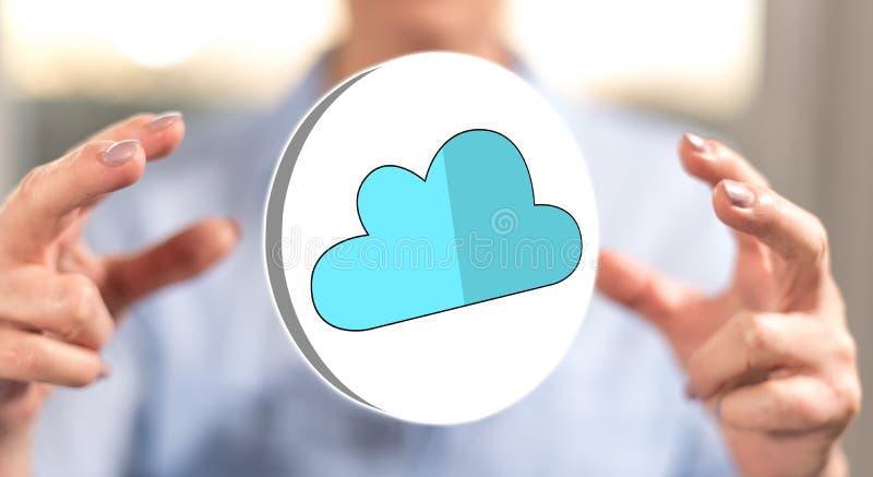 Begrepp av molnn?tverkande arkivfoton
