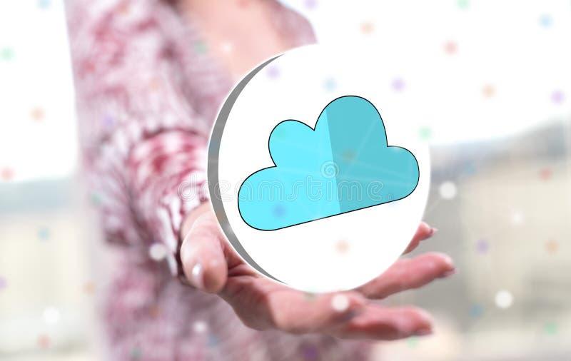 Begrepp av molnn?tverkande royaltyfri bild