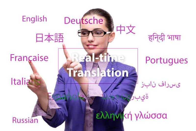 Begrepp av online-översättningen från utländskt språk royaltyfri foto