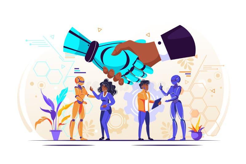 Begrepp av partnerskap vektor illustrationer