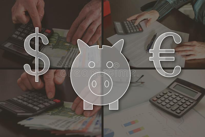 Begrepp av pengarbesparingen arkivbild