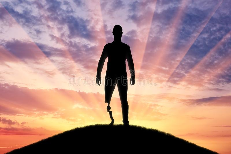 Begrepp av prosthetic ben och rehabilitering royaltyfria foton