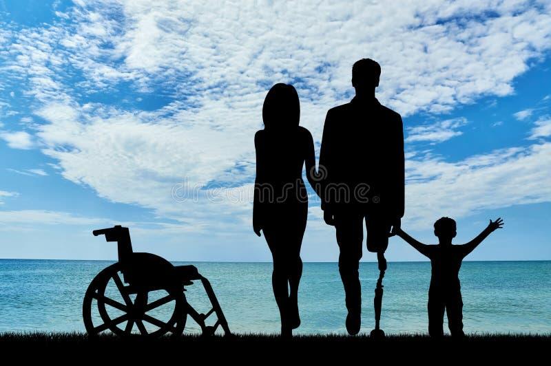 Begrepp av rehabilitering av invalids med prosthetic ben arkivbild