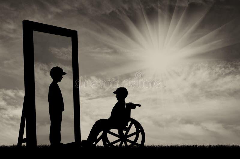 Begrepp av rehabilitering av rörelsehindrade barn vektor illustrationer