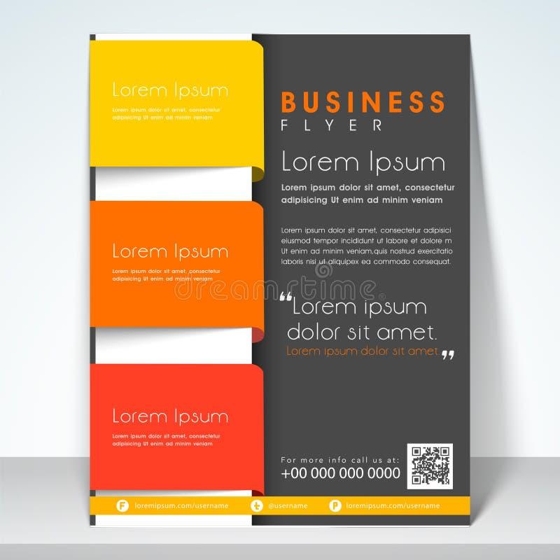 Begrepp av reklambladet, broschyren eller mallen för tre veck vektor illustrationer