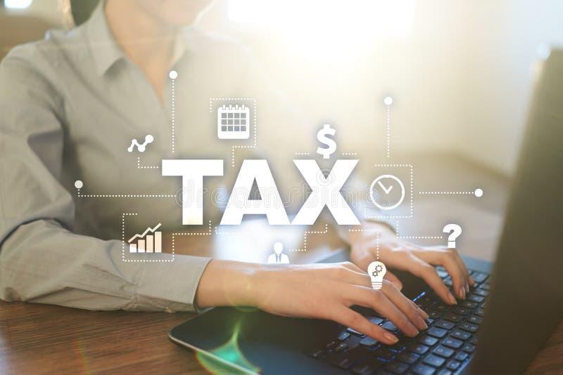 Begrepp av SKATT som betalas av individer och korporationer vat Inkomst- och rikedomskatt royaltyfri bild