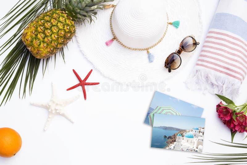Begrepp av sommarsemestrar arkivbild