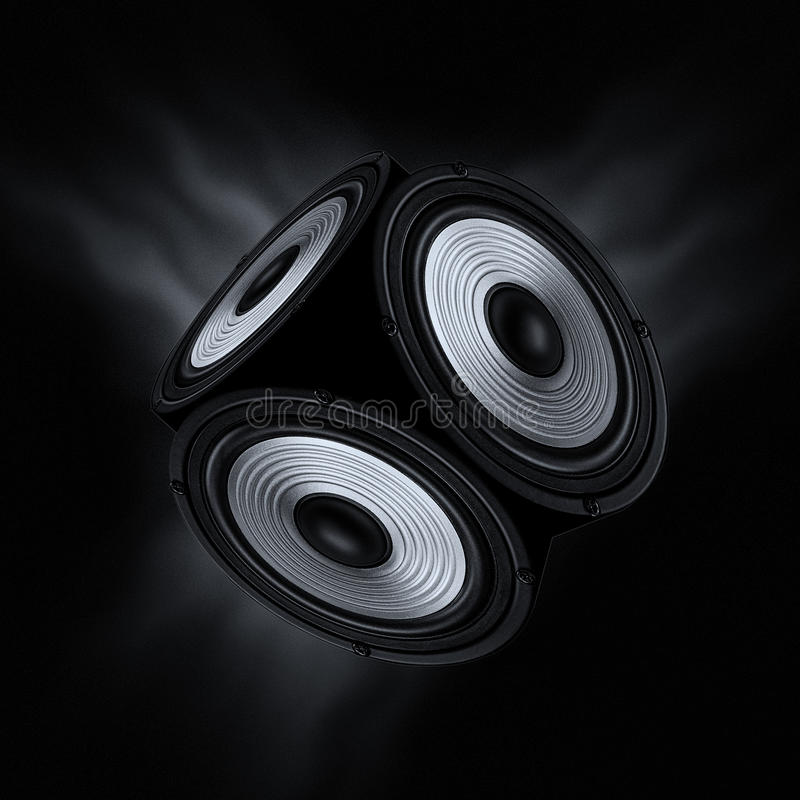 Begrepp av surround - ljud arkivfoto