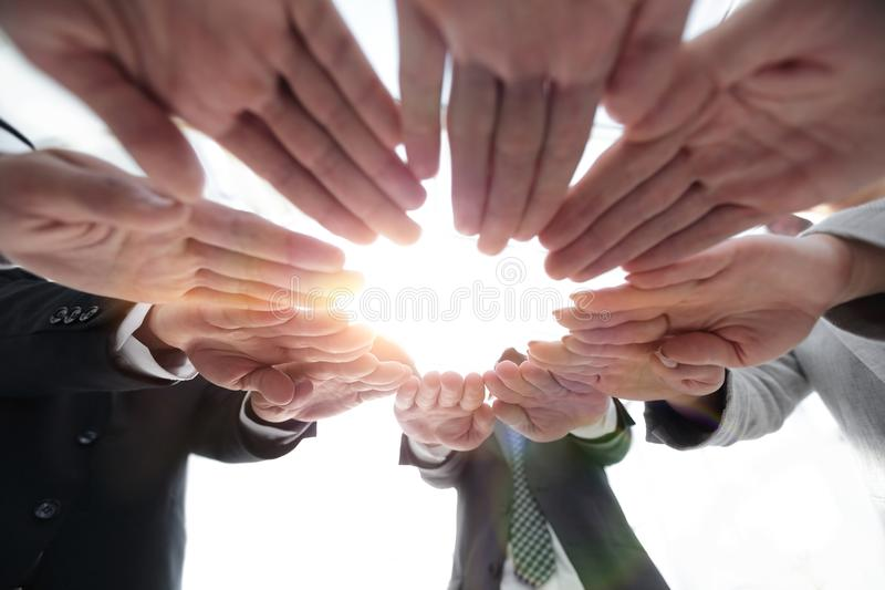 Begrepp av teamwork och enhet royaltyfria bilder