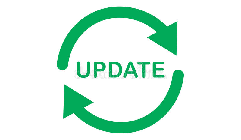 Begrepp av uppdateringen stock illustrationer