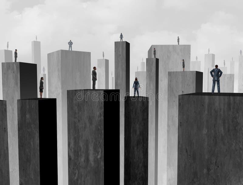 Begrepp av utmaningen för affärskommunikation stock illustrationer