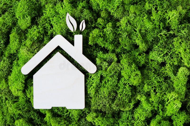 Begrepp Eco för grönt hus royaltyfri fotografi