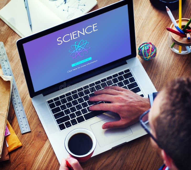 Begrepp för ämne för innovation för vetenskapsutbildning experimentellt royaltyfri bild