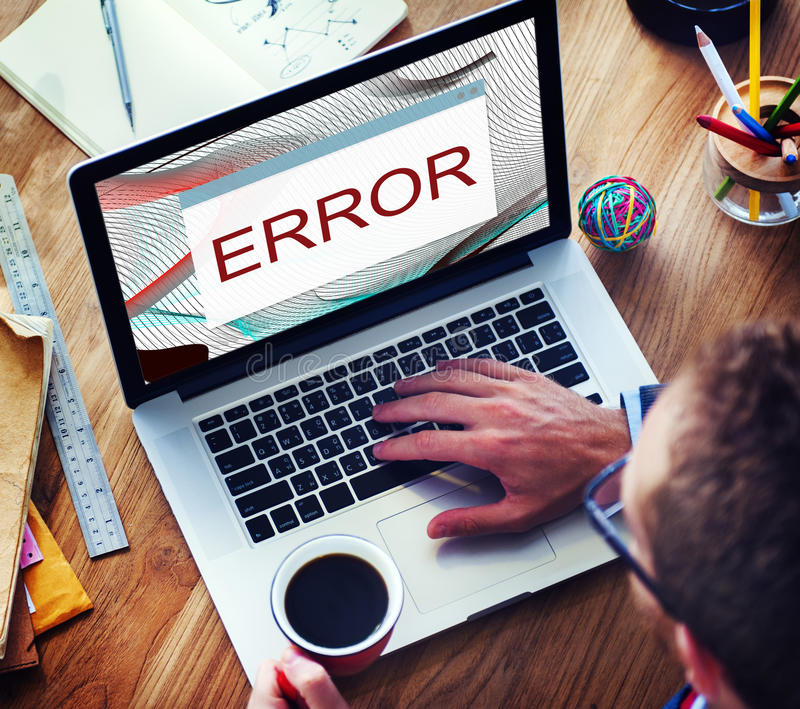Begrepp för AbEnd för fel för felDisconnectvarning arkivbilder
