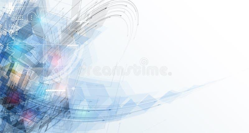 Begrepp för affär & utveckling för ny teknik företags royaltyfri illustrationer