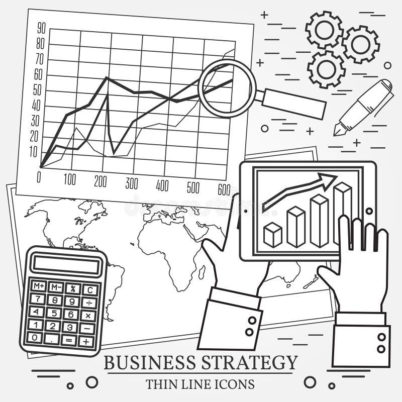 Begrepp för affärsanalys och planläggning som konsulterar, team wo royaltyfri illustrationer