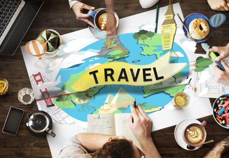 Begrepp för affärsföretag för resa för ferie för loppresandesemester arkivfoton
