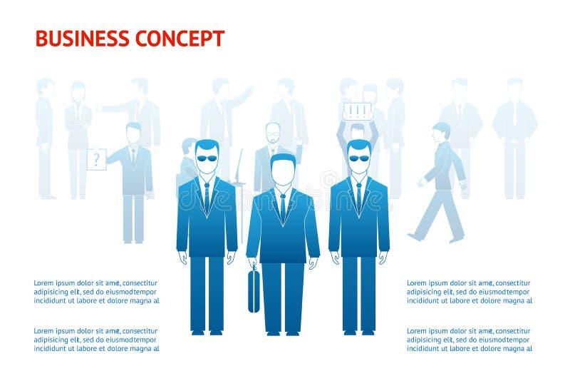 Begrepp för affärsfolk vektor illustrationer
