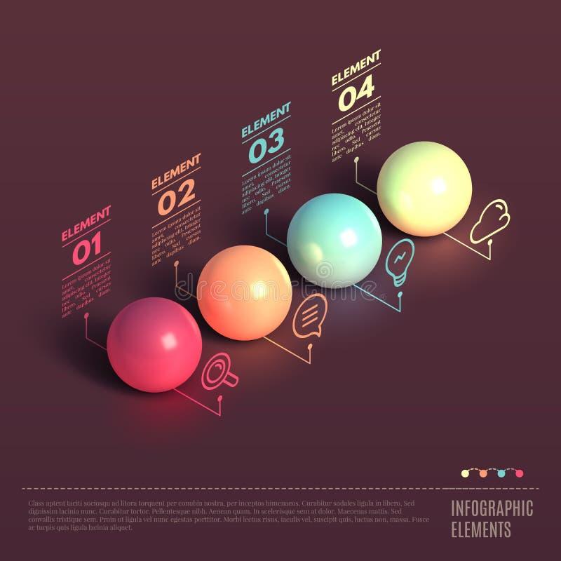 Begrepp för affärsInfographics boll stock illustrationer