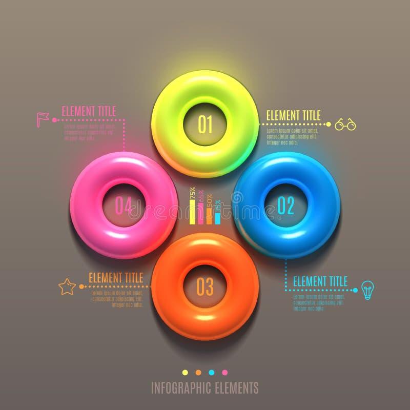 Begrepp för affärsInfographics torus vektor illustrationer