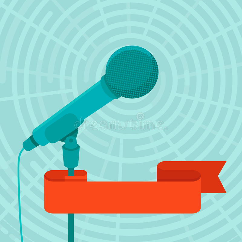 Begrepp för affärskonferens och offentligt för tala stock illustrationer