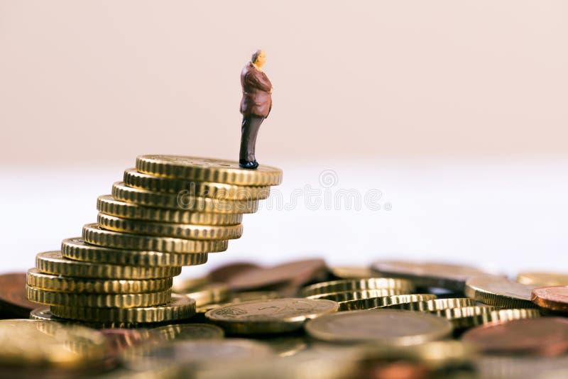 begrepp för affärskonkurs- och investeringrisk royaltyfri fotografi