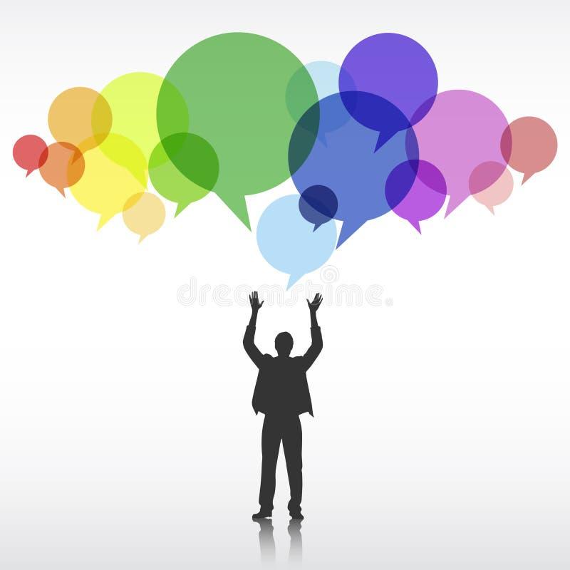 Begrepp för affärsmanCorporate Creativity Ideas innovation royaltyfri illustrationer