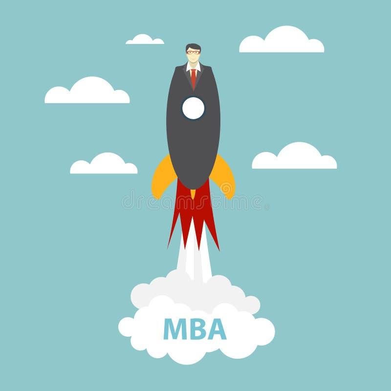 Begrepp för affärsMBA utbildning Trender och innovation i educati royaltyfri illustrationer