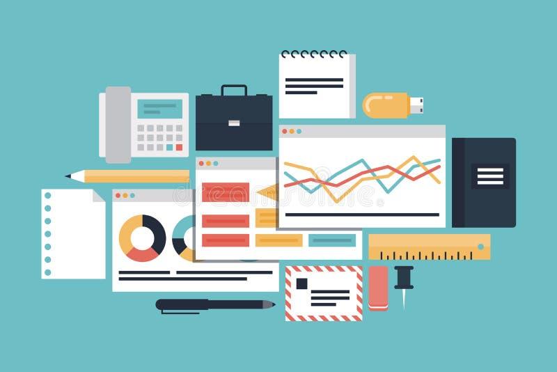 Begrepp för affärsproduktivitetsillustration stock illustrationer