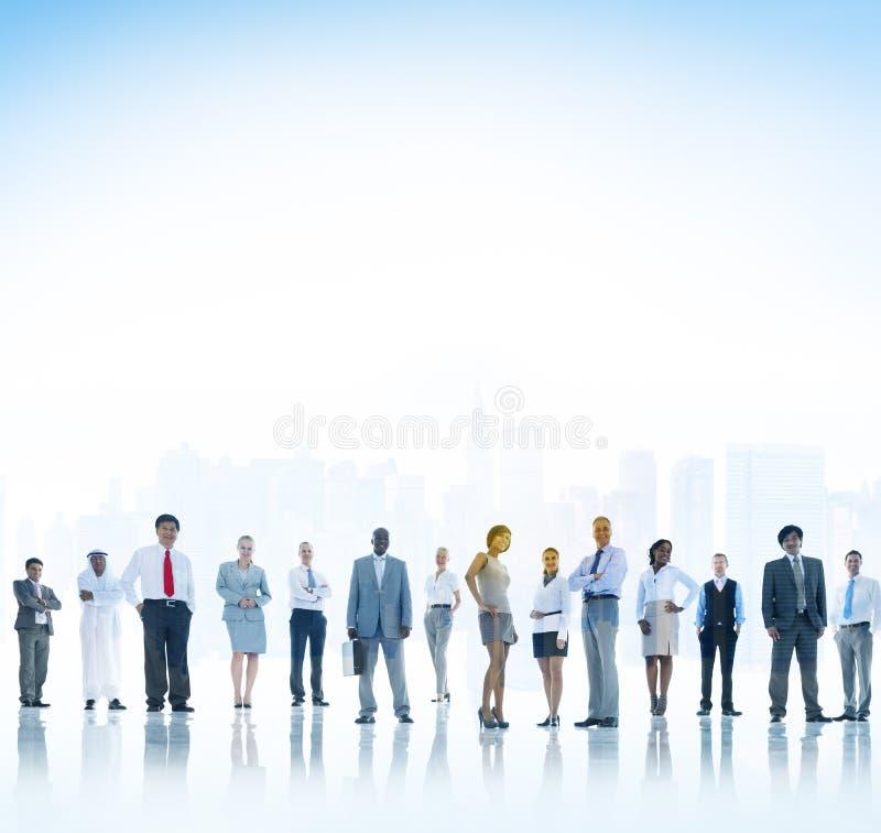 Begrepp för ambition för förtroende för teamwork för affärsfolk royaltyfria bilder