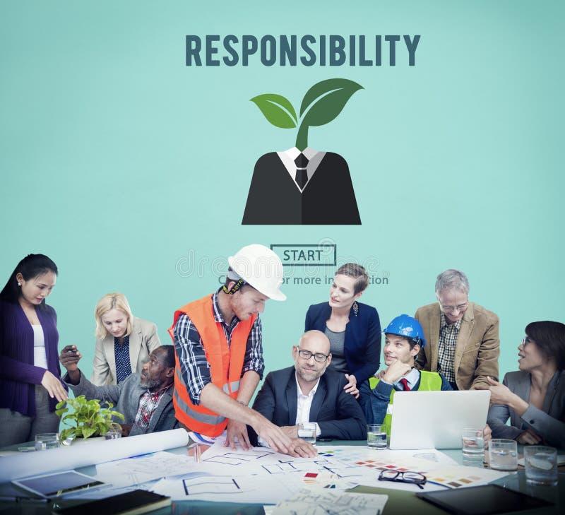 Begrepp för ansvarig för åtagande för uppgift för ansvarrollarbetsuppgift royaltyfri foto