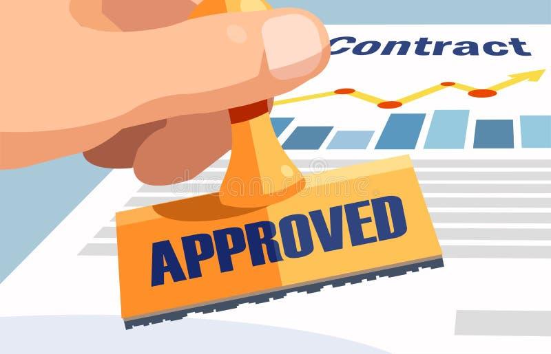 Begrepp för applikation för affärsbankrörelseavtal stock illustrationer