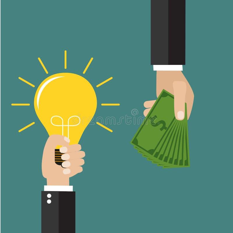 begrepp för att investera in i idéer stock illustrationer