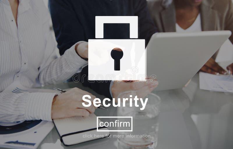 Begrepp för avskildhet för säkerhetslåsWebsite online- royaltyfria foton