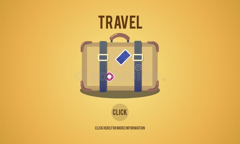 Begrepp för bagage för semester för turismloppreslust royaltyfri illustrationer