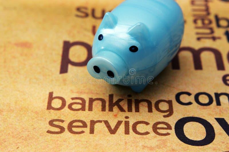 Begrepp för bankrörelseservice arkivfoton