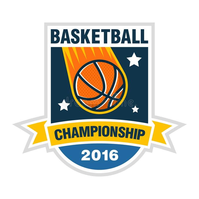 Begrepp för basketmästerskap-, turnering- eller laglogo royaltyfri illustrationer