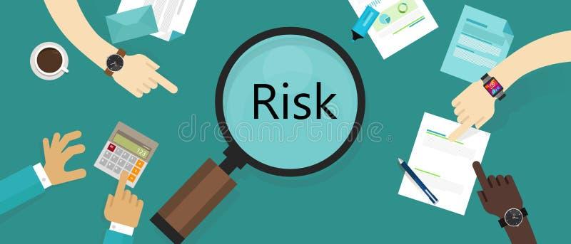 Begrepp för bedömning för sårbarhet för tillgång för riskledning royaltyfri illustrationer