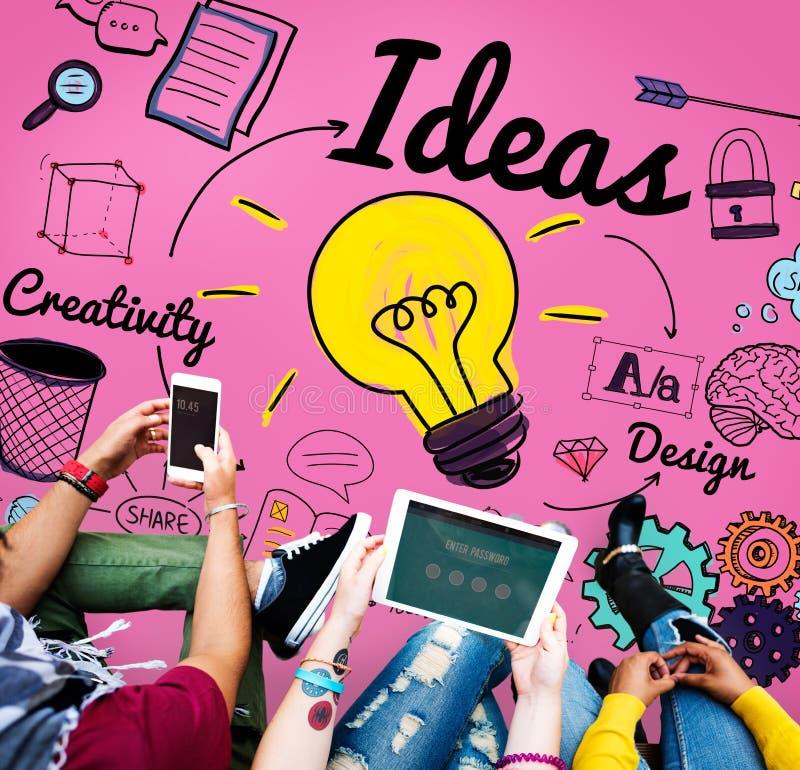 Begrepp för beskickning för plan för design för idéidévision sakligt royaltyfria bilder