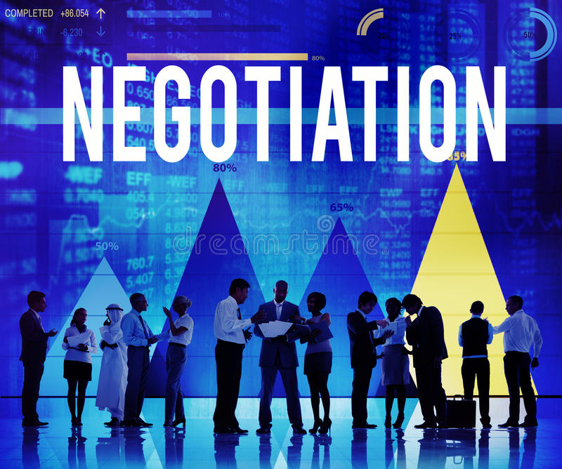 Begrepp för beslut för överenskommelse för förhandlingkompromissavtal royaltyfri bild