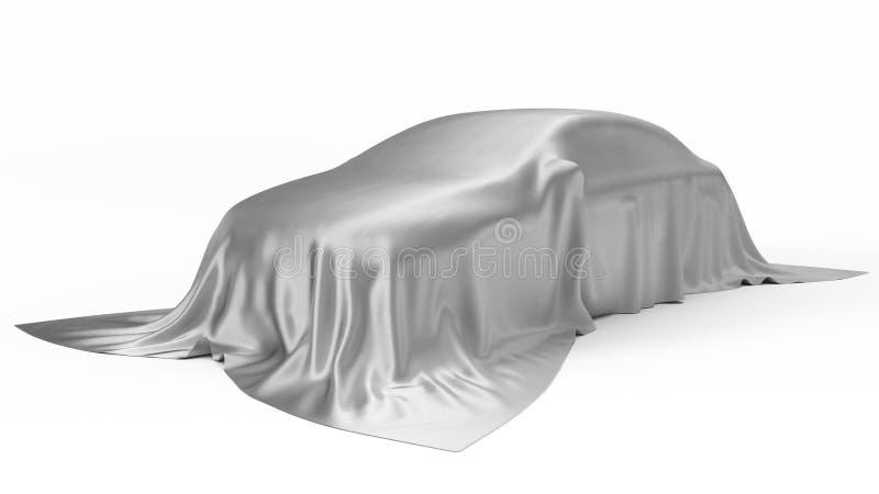 Begrepp för bil för silversilke dolt illustration 3d vektor illustrationer