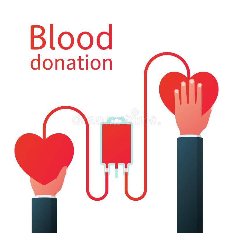 Begrepp för bloddonation stock illustrationer