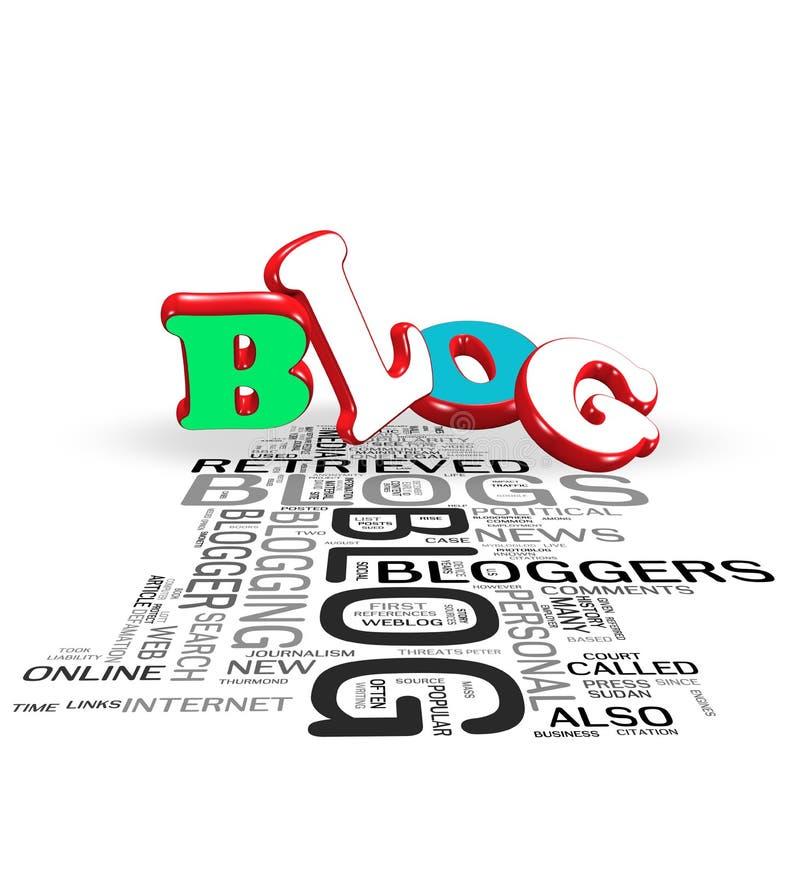 begrepp för blog 3d stock illustrationer