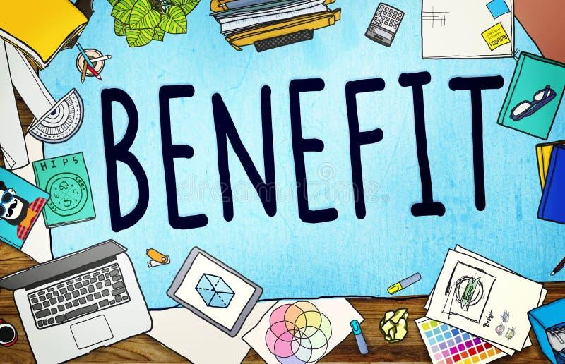 Begrepp för bonus för vinst för fördelinkomstincitament royaltyfri illustrationer