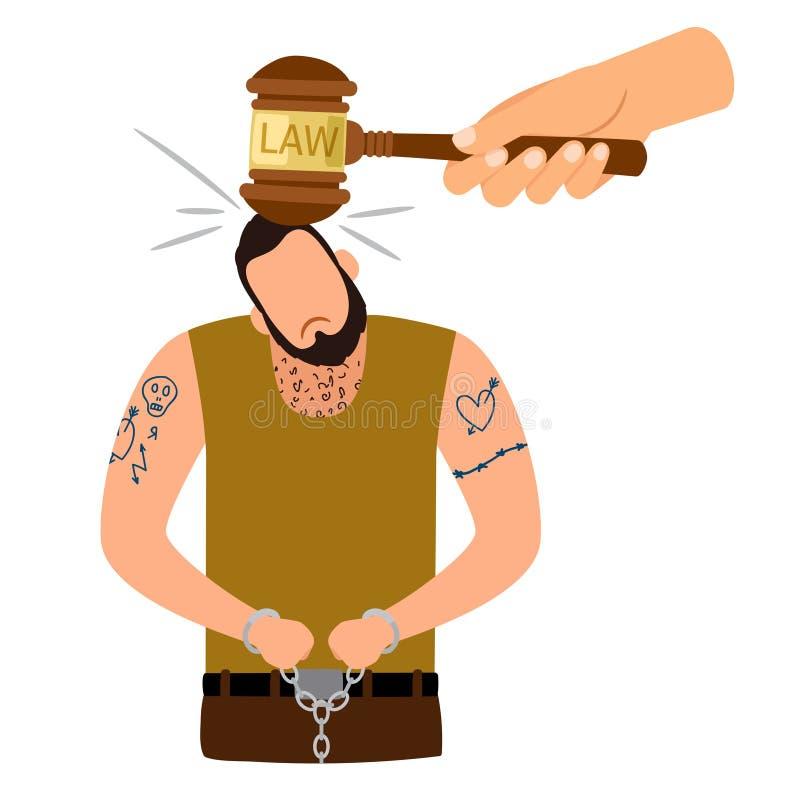 Begrepp för brottslig bestraffning royaltyfri illustrationer
