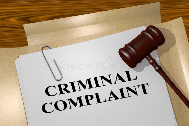 Begrepp för brottsligt klagomål vektor illustrationer