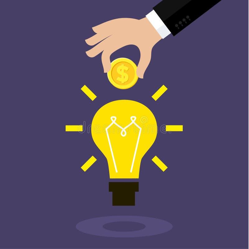 Begrepp för crowdfunding royaltyfri illustrationer